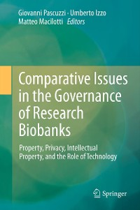 Cover Comparative Issues in the Governance of Research Biobanks