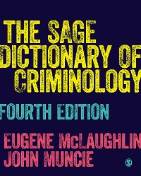 Cover The SAGE Dictionary of Criminology