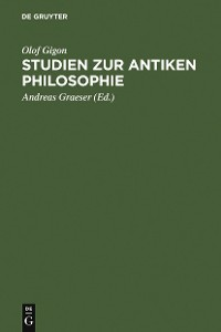 Cover Studien zur antiken Philosophie