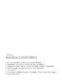 Cover Manifeste evoversus