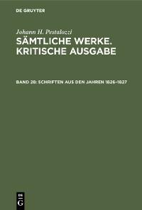 Cover Schriften aus den Jahren 1826–1827