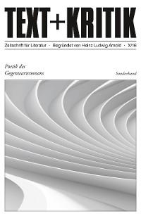Cover TEXT + KRITIK Sonderband 10 - Poetik des Gegenwartsromans