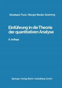 Cover Einfuhrung in die Theorie der qualitativen Analyse