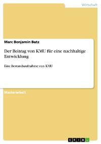 Cover Der Beitrag von KMU für eine nachhaltige Entwicklung