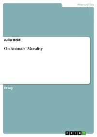 Cover On Animals' Morality
