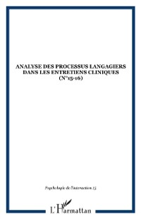 Cover Analyse processus langagiers dans entret