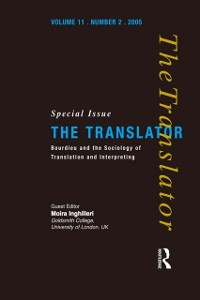 Cover Bourdieu and the Sociology of Translation and Interpreting