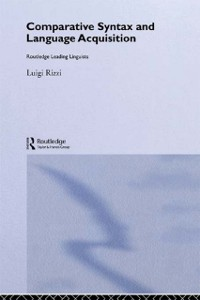 Cover Comparative Syntax and Language Acquisition