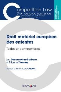 Cover Droit matériel européen des ententes