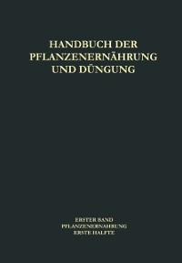 Cover Pflanzenernahrung