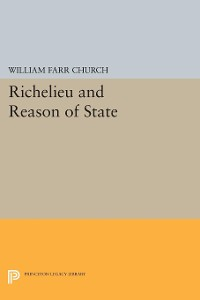 Cover Richelieu and Reason of State
