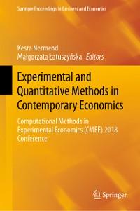 Cover Experimental and Quantitative Methods in Contemporary Economics