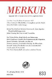 Cover MERKUR Gegründet 1947 als Deutsche Zeitschrift für europäisches Denken - 2018-10