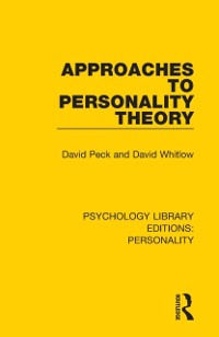 Cover Approaches to Personality Theory