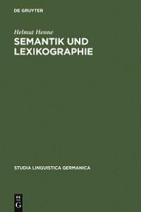 Cover Semantik und Lexikographie
