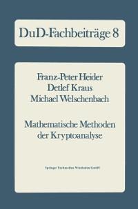 Cover Mathematische Methoden der Kryptoanalyse