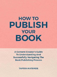 Cover How To Publish Your Book