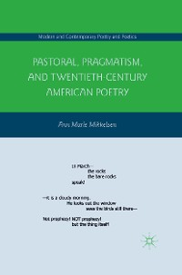 Cover Pastoral, Pragmatism, and Twentieth-Century American Poetry