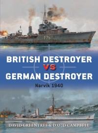 Cover British Destroyer vs German Destroyer