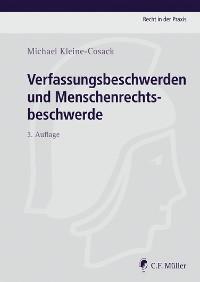 Cover Verfassungsbeschwerden und Menschenrechtsbeschwerde
