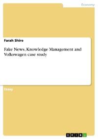 Cover Fake News, Knowledge Management and Volkswagen case study