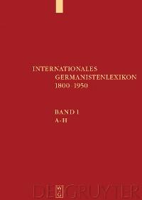 Cover Internationales Germanistenlexikon 1800-1950