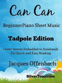 Cover Can Can Beginner Piano Sheet Music Tadpole Edition