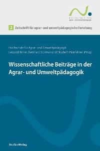 Cover Zeitschrift für agrar- und umweltpädagogische Forschung 2