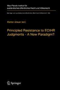 Cover Principled Resistance to ECtHR Judgments - A New Paradigm?