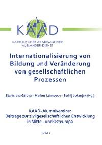 Cover Internationalisierung von Bildung und Veränderung von gesellschaftlichen Prozessen