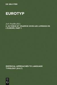 Cover Actance et Valence dans les Langues de l'Europe