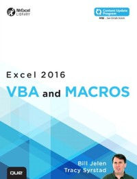 Cover Excel 2016 VBA and Macros (includes Content Update Program)