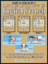 Cover Pack 3 Books in 1 - Flash Cards Pictures and Words English French