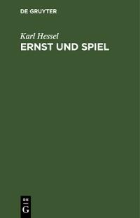 Cover Ernst und Spiel