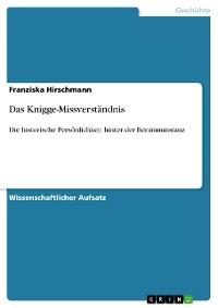 Cover Das Knigge-Missverständnis