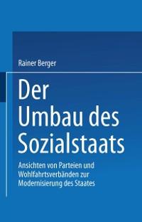 Cover Der Umbau des Sozialstaates