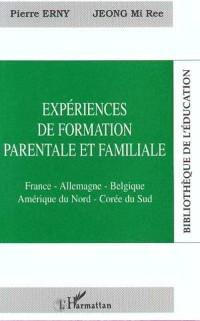 Cover Experiences de formation parentale et fa