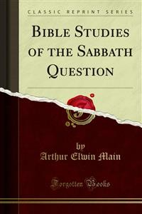 Cover Bible Studies of the Sabbath Question