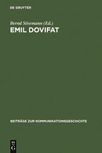 Cover Emil Dovifat