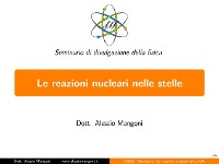 Cover Le reazioni nucleari nelle stelle