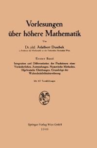 Cover Integration und Differentiation der Funktionen einer Veranderlichen