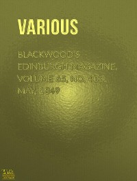 Cover Blackwood's Edinburgh Magazine, Volume 64, No.394, August, 1848
