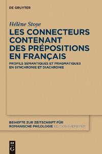 Cover Les connecteurs contenant des prépositions en français