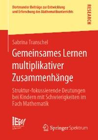 Cover Gemeinsames Lernen multiplikativer Zusammenhänge