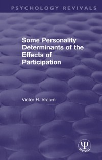 Cover Some Personality Determinants of the Effects of Participation