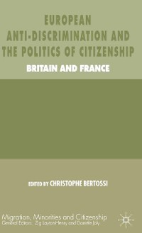 Cover European Anti-Discrimination and the Politics of Citizenship