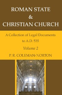 Cover Roman State & Christian Church Volume 2