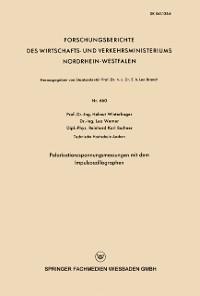 Cover Polarisationsspannungsmessungen mit dem Impulsoszillographen