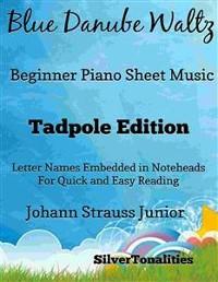 Cover Blue Danube Waltz Beginner Piano Sheet Music Tadpole Edition