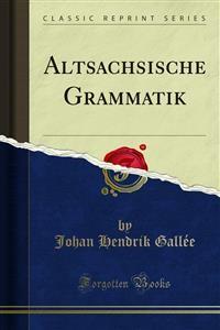 Cover Altsachsische Grammatik